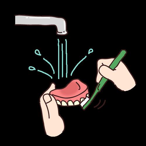 入れ歯のお手入れ方法